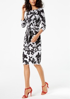 I.n.c. Printed Tie-Waist Dress, Created for Macy's