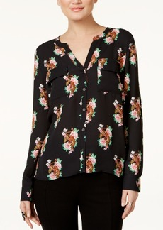 Inc International Concepts Printed Tulip-Back Blouse, Only at Macy's