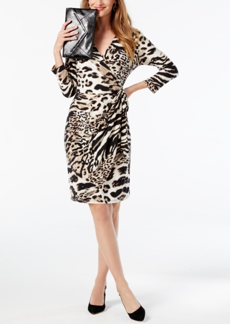 INC International Concepts I.n.c. Printed Wrap Dress