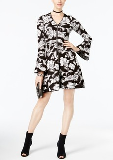 Inc International Concepts Petite Printed Fit & Flare Dress, Created for Macy's