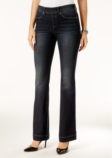 Inc International Concepts Pull-On Unicorn Wash Flare-Leg Jeans, Only at Macy's