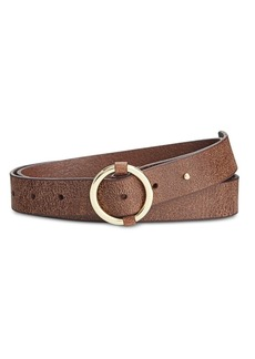 Inc International Concepts Pull-Through Centerbar Leather Belt, Only at Macy's