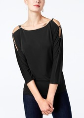 Inc International Concepts Rhinestone Cold-Shoulder Top, Created for Macy's