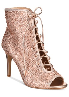 I.n.c. Rikelie Evening Peep-Toe Lace-Up Booties, Created for Macy's Women's Shoes