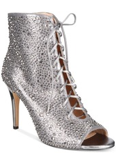 INC International Concepts I.n.c. Rikelie Evening Peep-Toe Lace-Up Booties, Created for Macy's Women's Shoes
