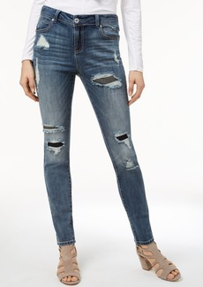 I.n.c. Curvy-Fit Rip-And-Repair Skinny Jeans, Created for Macy's