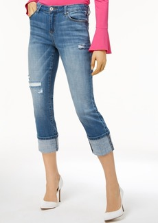 Inc International Concepts Curvy Deconstructed Crop Jeans, Created for Macy's