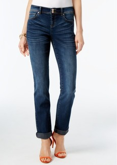Inc International Concepts Rolled Straight-Leg Jeans, Only at Macy's
