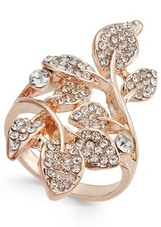 INC International Concepts I.n.c. Rose Gold-Tone Pave Multi-Leaf Ring, Created for Macy's