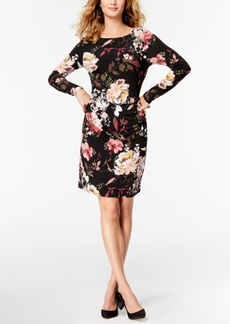 I.n.c. Ruched Floral-Print Dress, Created for Macy's
