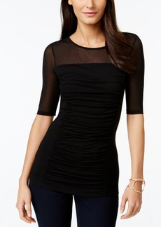 INC International Concepts I.n.c. Ruched Illusion Top, Created for Macy's