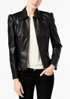 Inc International Concepts Ruffled Faux-Leather Jacket, Created for Macy's