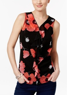 Inc International Concepts Ruffled Floral-Print Shell, Only at Macy's