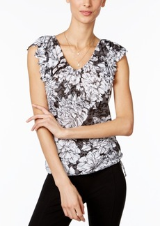 Inc International Concepts Ruffled Floral-Print Top, Only at Macy's