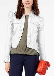 I.n.c. Ruffled Linen Jacket, Created for Macy's