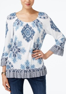 INC International Concepts I.n.c. Ruffled Peasant Top, Created for Macy's