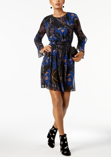 Inc International Concepts Ruffled-Sleeve Fit & Flare Dress, Created for Macy's