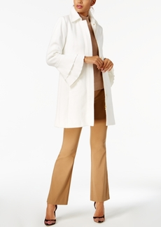 Inc International Concepts Ruffled-Sleeve Peacoat, Created for Macy's