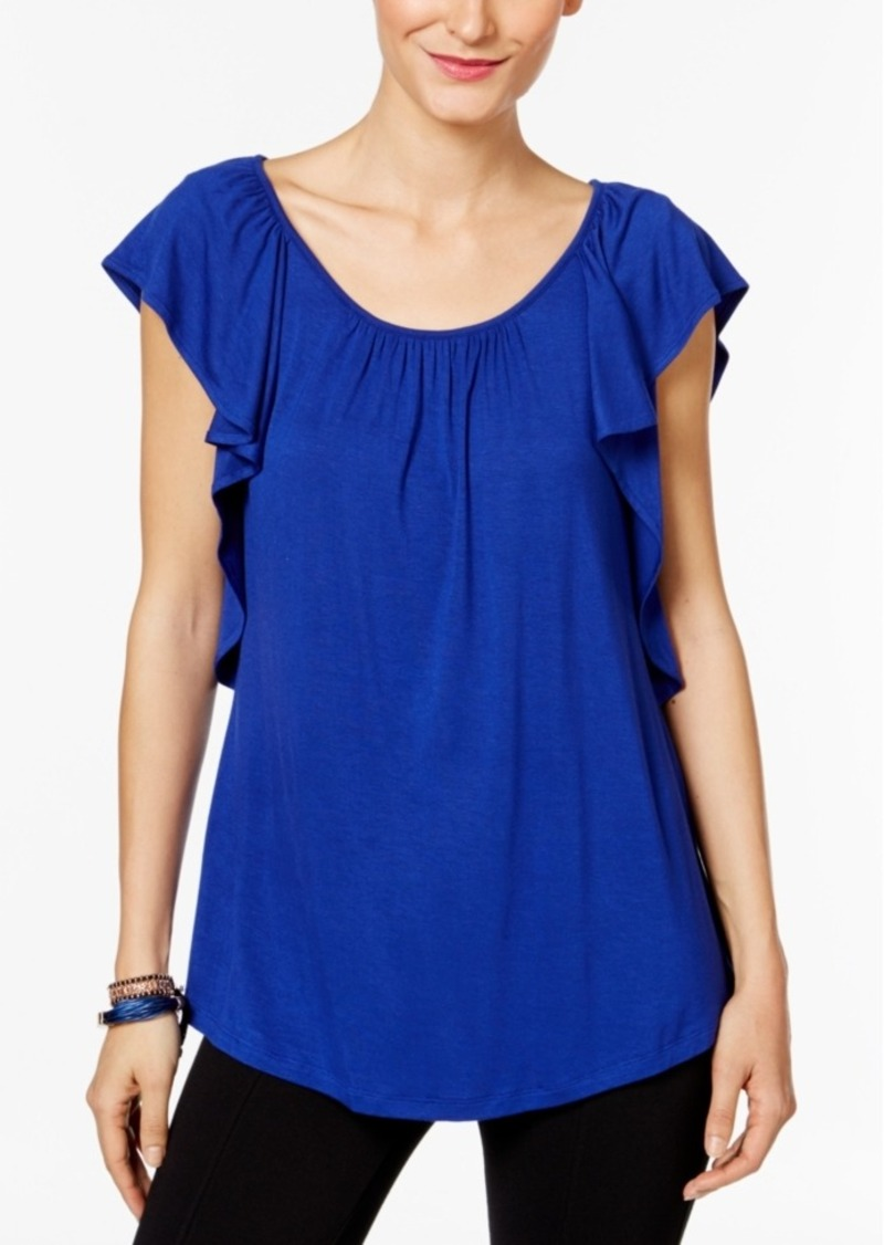 Inc International Concepts Ruffled Top, Only at Macy's