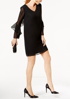Inc International Concepts Ruffled-Trim Shift Dress, Created for Macy's