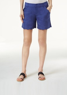 Inc International Concepts Scalloped-Edge Shorts, Only at Macy's