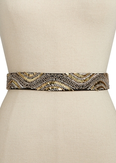 Inc International Concepts Sequin Beaded Stretch Belt, Created for Macy's