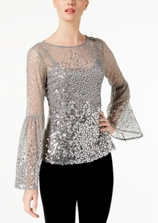 INC International Concepts I.n.c. Sequinned Illusion Top, Created for Macy's