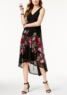 I.n.c. Petite High-Low Printed Dress, Created for Macy's