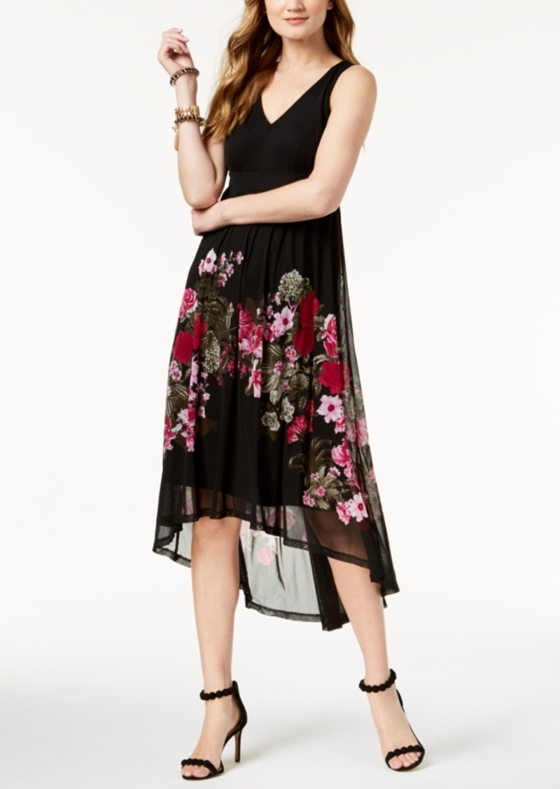 INC International Concepts I.n.c. Petite High-Low Printed Dress, Created for Macy's