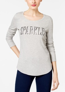 Inc International Concepts Sparkle Graphic Top, Only at Macy's