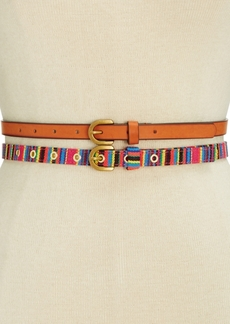 Inc International Concepts Striped 2-for-1 Belt, Created for Macy's
