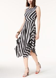I.n.c. Striped Handkerchief Hem Dress, Created for Macy's