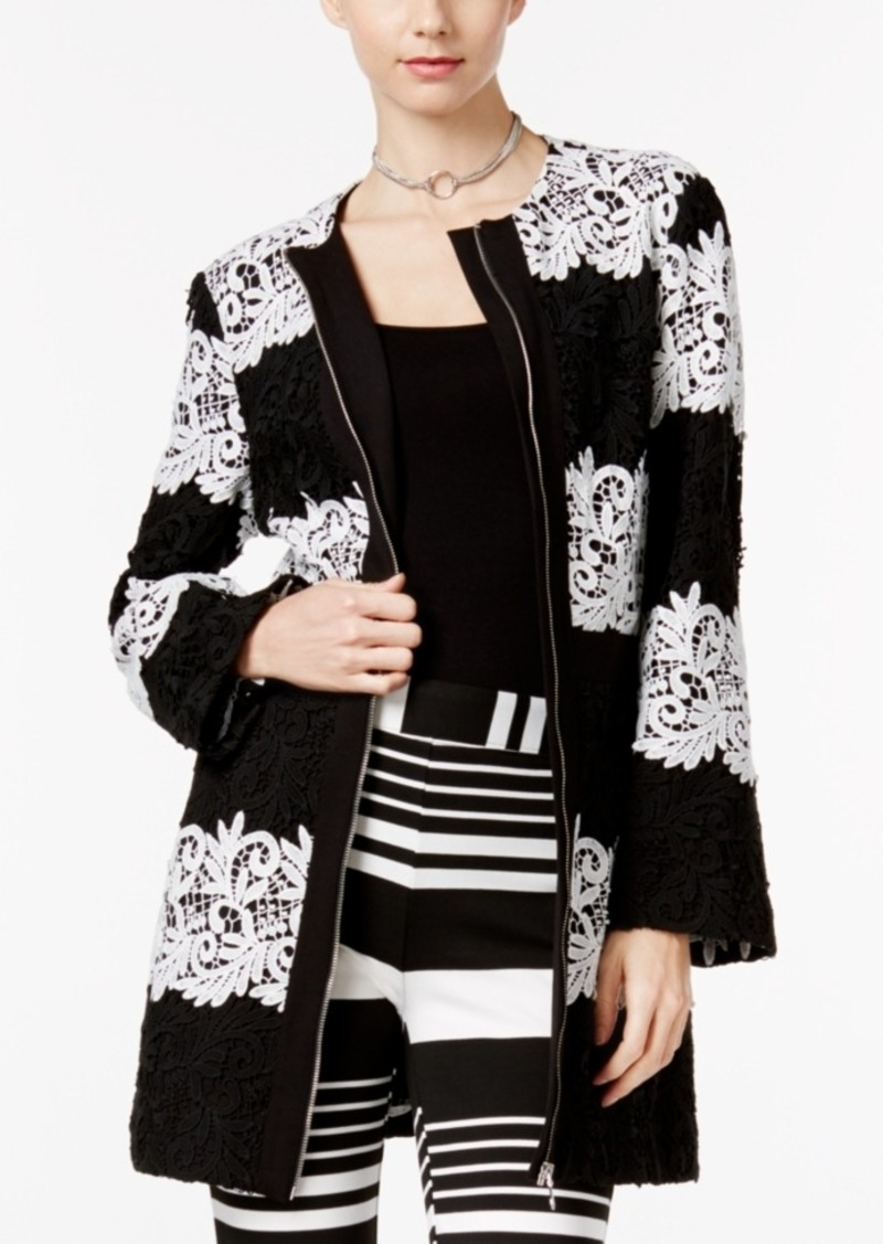 search for best best site various design Striped Lace Peacoat, Only at Macy's