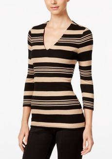 Inc International Concepts Striped Rib-Knit Top, Only at Macy's