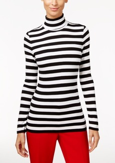 Inc International Concepts Striped Turtleneck Top, Only at Macy's
