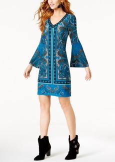 Inc International Concepts Petite Embellished Bell-Sleeve Dress, Created for Macy's