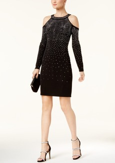 Inc International Concepts Studded Cold-Shoulder Dress, Created for Macy's