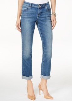 Inc International Concepts Curvy Sunlight Wash Boyfriend Jeans, Only at Macy's