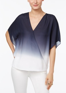 Inc International Concepts Surplice Ombre Top, Only at Macy's