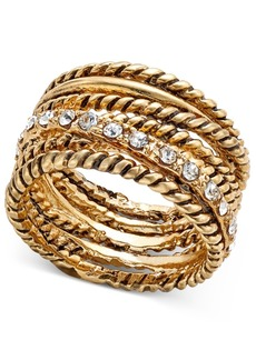 Inc International Concepts Textured Pave Statement Ring, Only at Macy's