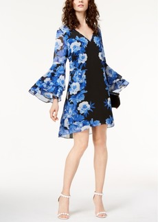 I.n.c. Tiered Bell-Sleeve Dress, Created for Macy's