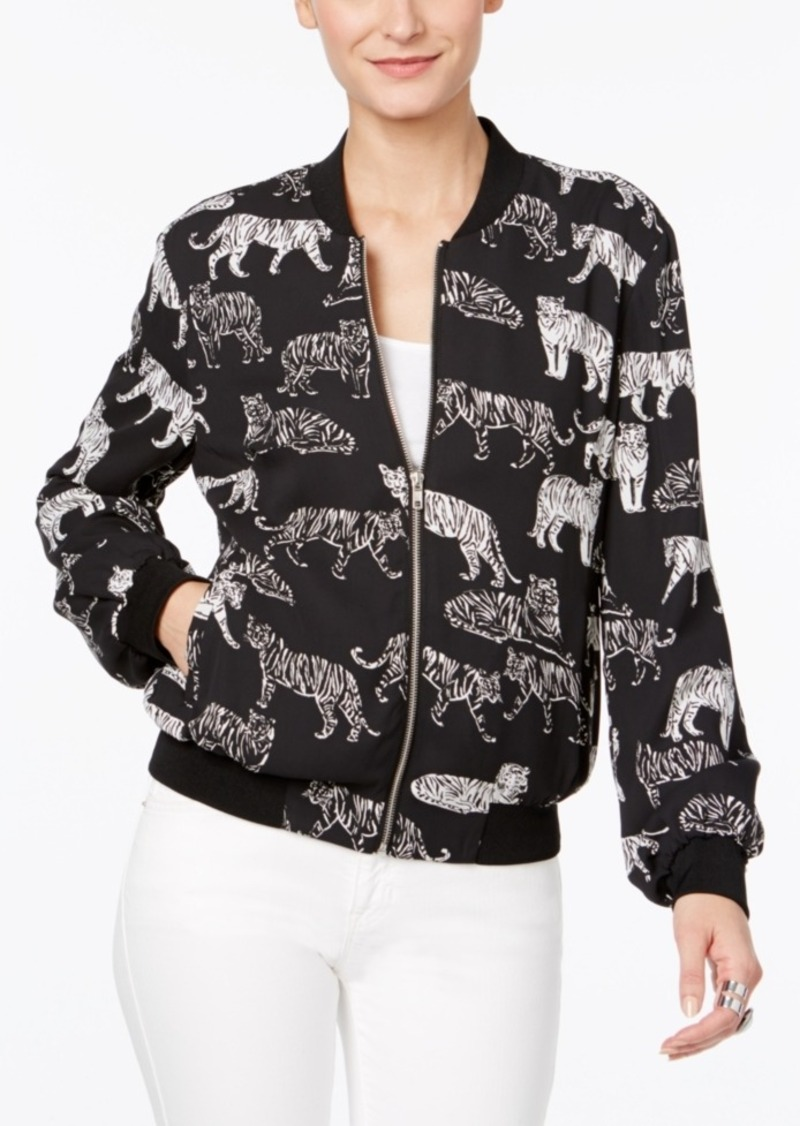 Inc International Concepts Tiger-Print Bomber Jacket, Only at Macy's