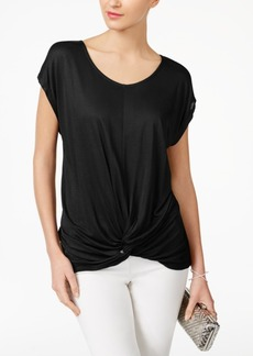 Inc International Concepts Petite Twist-Front Top, Created for Macy's