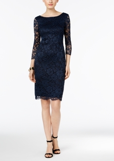 Inc International Concepts V-Back Lace Sheath Dress, Only at Macy's