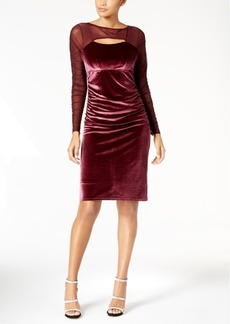 I.n.c. Velvet Cutout Illusion Dress, Created for Macy's