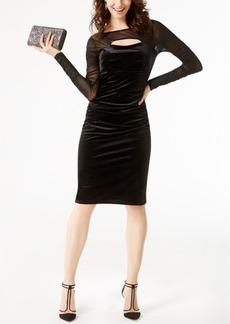 Inc International Concepts Velvet Cutout Illusion Dress, Created for Macy's