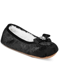 Inc International Concepts Velvet Embellished Ballerina Slippers, Created for Macy's
