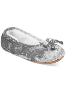 I.n.c. Velvet Embellished Ballerina Slippers, Created for Macy's