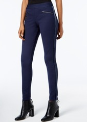 Inc International Concepts Velvet-Panel Curvy-Fit Skinny Pants, Created for Macy's