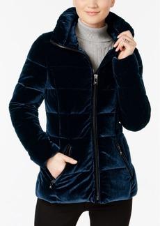 INC International Concepts I.n.c. Velvet Puffer Coat, Created for Macy's